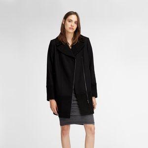 DKNY Mixed Media Wool Coat